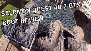 Salomon Quest 4D 2 GTX Boot Review, Part 1