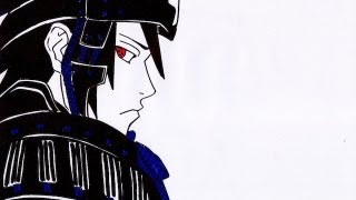 No.800 HOW TO DRAW SAMURAI SASUKE UCHIHA うちは サスケ