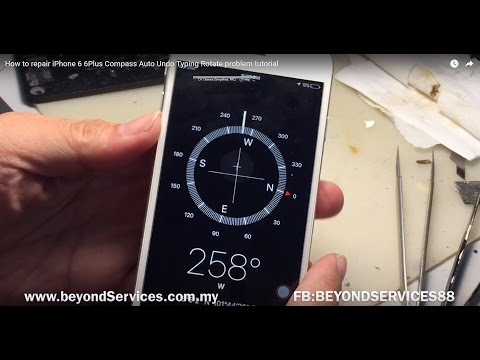 How to repair iPhone 6 6Plus  Compass Auto Undo Typing Rotate problem tutorial