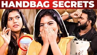 Super Singer Roshini's Handbag Secrets Revealed by Vj Ashiq | What's Inside the Handbag?