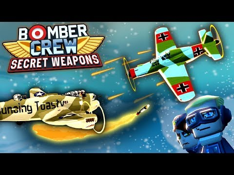 NEW Bomber Crew SECRET MISSIONS DLC, Missiles, German UFOs!  (Bomber Crew DLC Part 1)