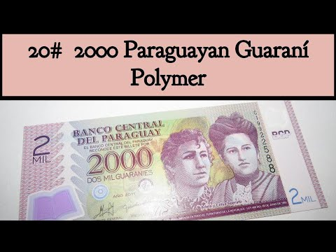 20# 2000 Paraguayan Guaraní Polymer | Currencies Of The World | #Currenciesoftheworld | #OneArcher