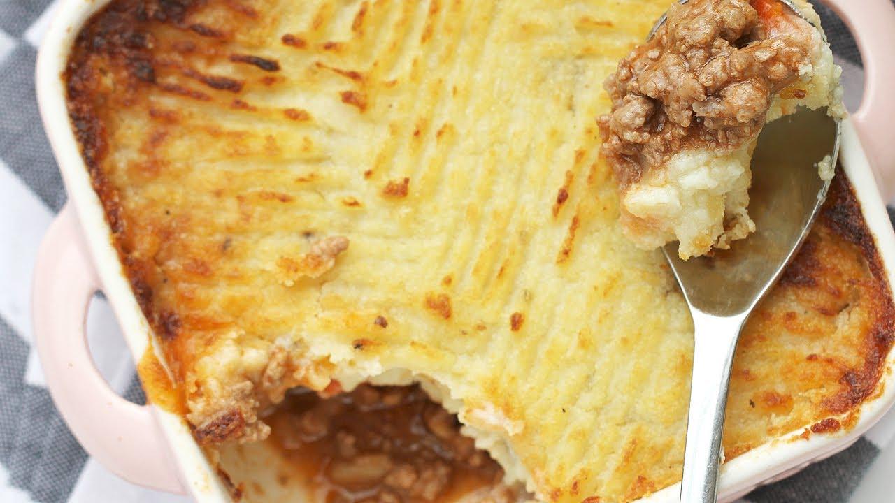 Easy Shepherd's Pie Recipe - Beef Cottage Pie 캐서롤 만들기 Beef ...