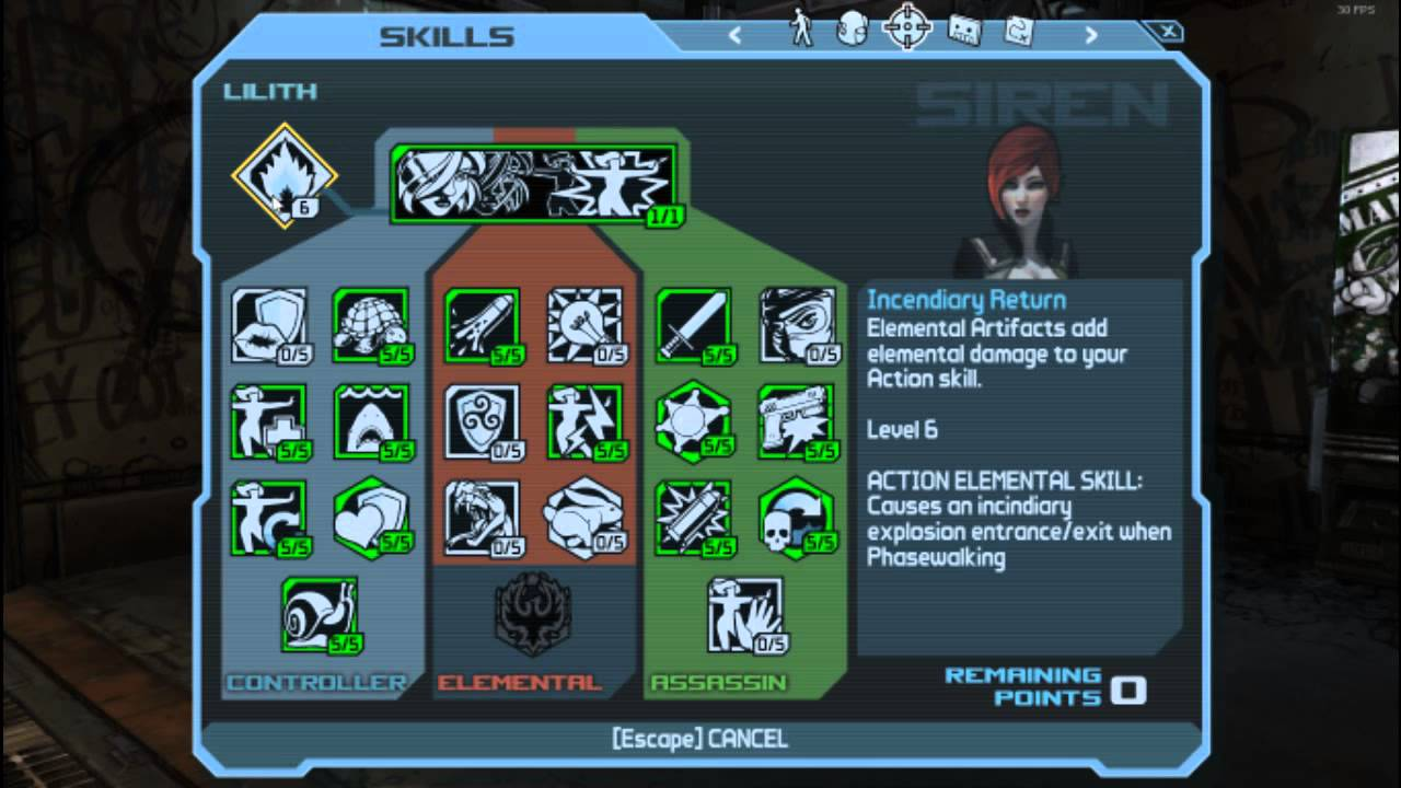 Borderlands 1 Level 69 Siren [Save Download]