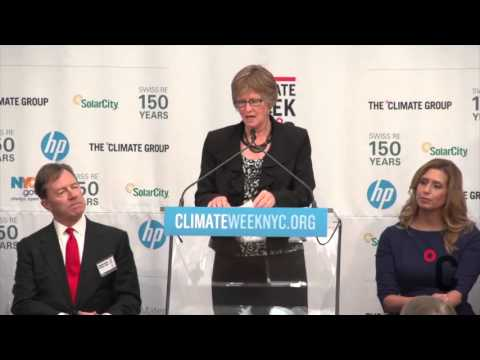 Pam Johnson, Chairwoman, National Corn Growers Association at Climate Week NYC 2013