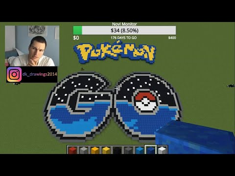 Minecraft Tutorial : How To Make Pokemon GO Logo Pixel Art #pokemon #minecraft #pokemongo thumbnail