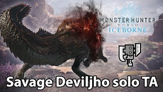 MHW Iceborne | Savage Deviljho solo (Switch Axe) - 4'37 TA rules)
