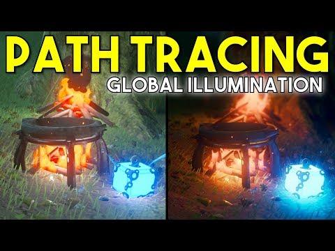 Path Traced Global Illumination in Zelda BOTW, Splatoon & Mario Kart 8