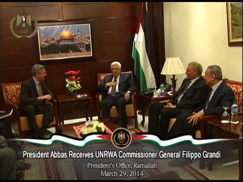 President Abbas Receives UNRWA Commissioner General Filippo Grandi