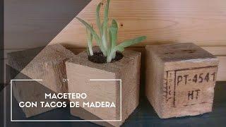Macetero Con Tacos (planter Wooden Blocks Diy)
