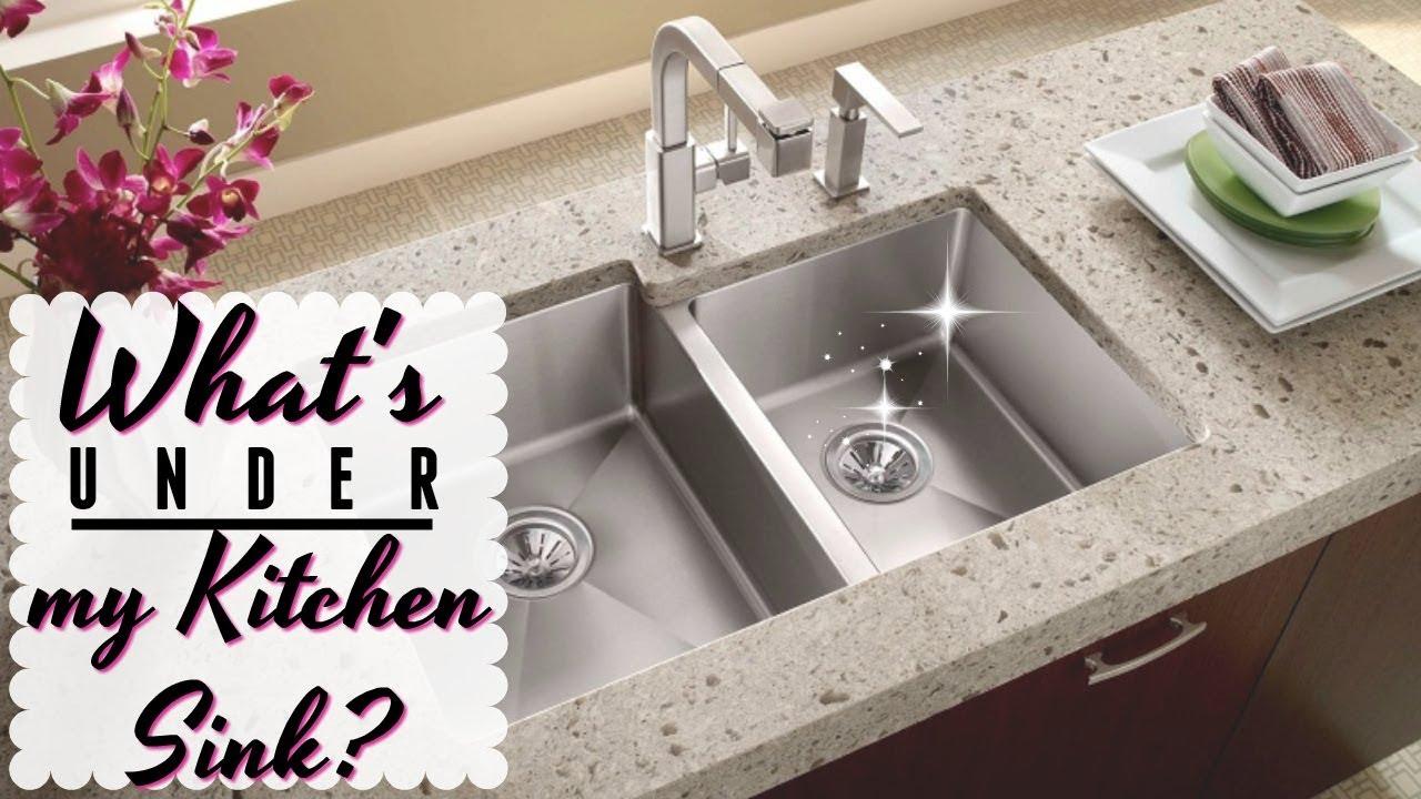 WHAT\'S UNDER MY KITCHEN SINK? // How to Organize Under the Kitchen ...
