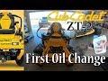 cub cadet zt2 first oil change