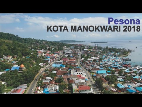 Pesona Kota Manokwari 2018, Ibukota Provinsi Papua Barat dari Udara