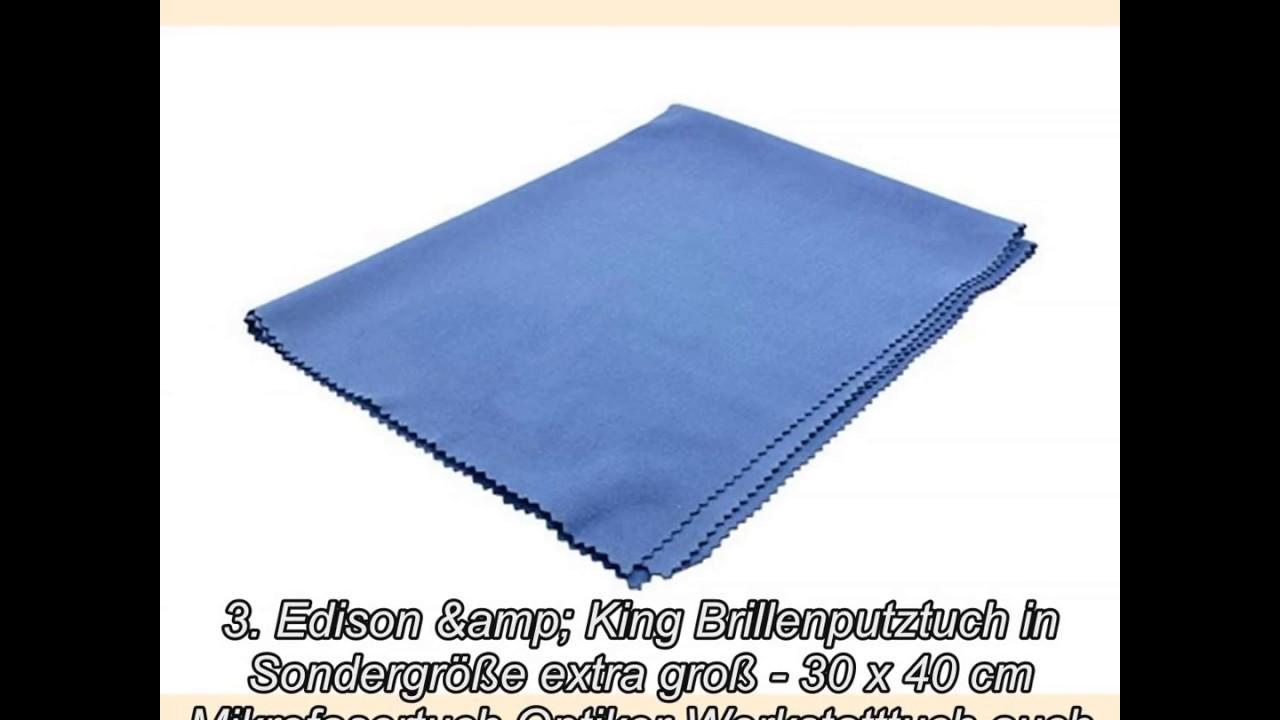 2x Mikrofaser Brillenputztuch Len Cleaner 30x30cm