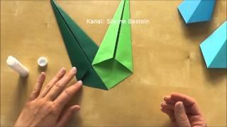 Sterne Basteln - Weihnachtsdeko basteln mit Kindern - Weihnachtssterne selber machen
