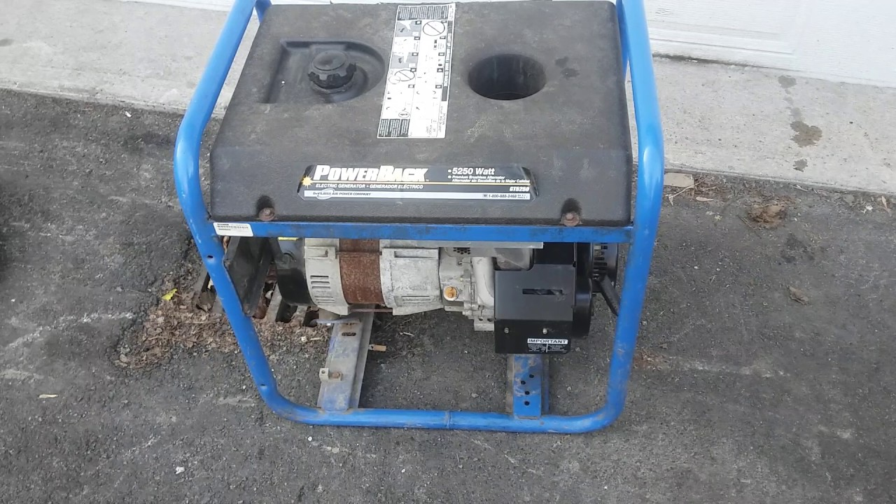 review of my 2005 power back by devilbiss 5250w generator
