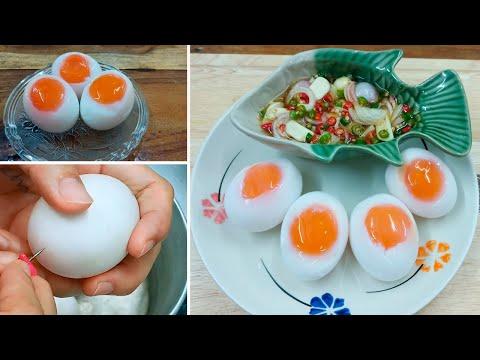 เทคนิคการต้มไข่ ไข่ตาลอย ไข่ตาหวาน ไข่ตานี ไข่ต้มพิสดาร ไข่ยางมะตูม ไข่ตาเดียว ให้ปอกง่าย