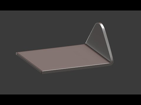 How to bend solid flat objects with precision in Blender.