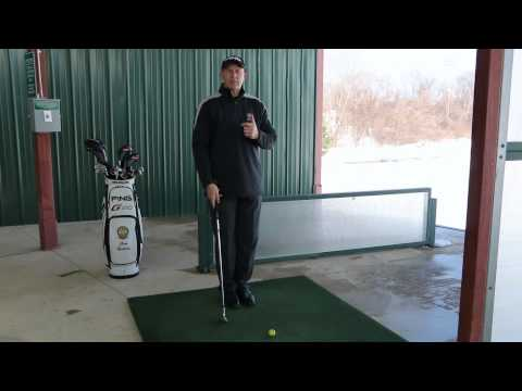 Practice drill for correct body turn in the golf swing