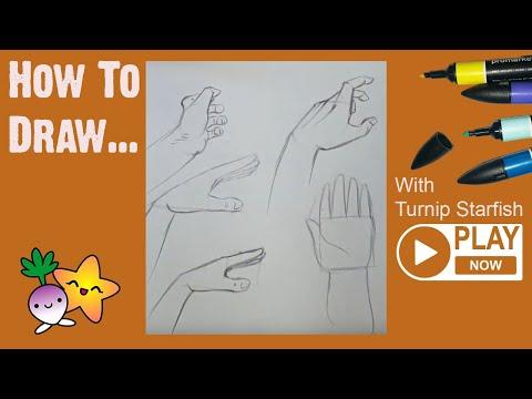 HOW TO DRAW Basic Hands 1 - Turnip Starfish