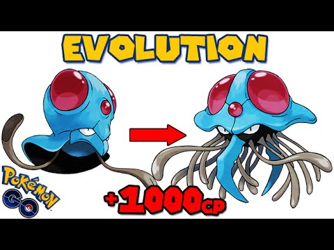Evolving TENTACOOL to TENTACRUEL (POKEMON GO EVOLUTION) - YouTube