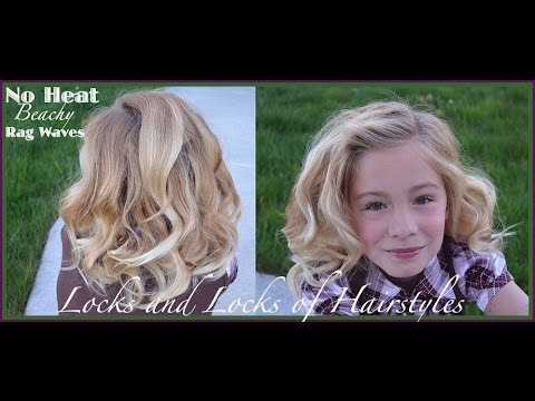 Curl hair with strips of fabric