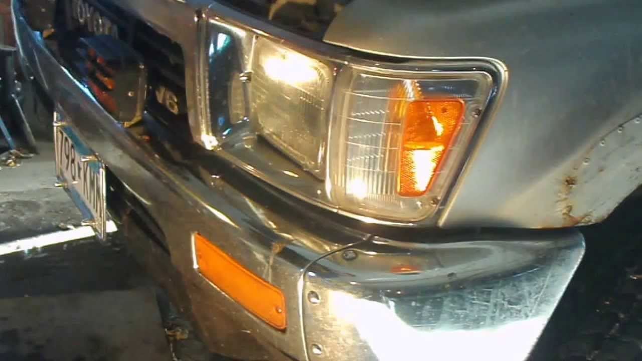 medium resolution of headlight replacement 1989 toyota pickup