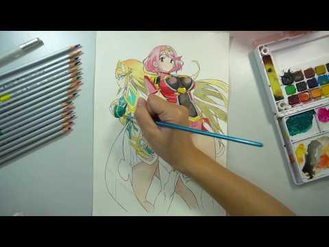 Drawing Pyra & Mythra Xenoblade Chronicles 2 | FP Good Game