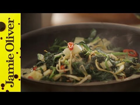 Jamie Oliver's perfect greens to go with his perfect steak
