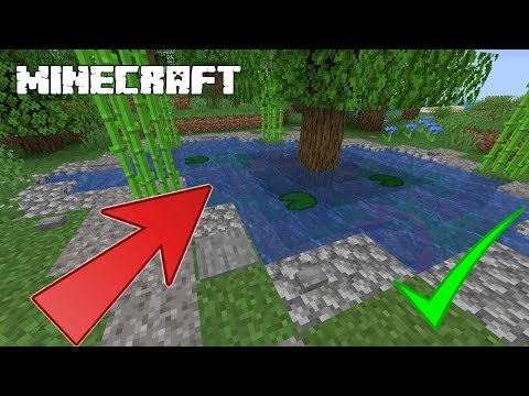 MINECRAFT | How To Build A Small Easy Fish Pond! TUTORIAL! 1.14.4
