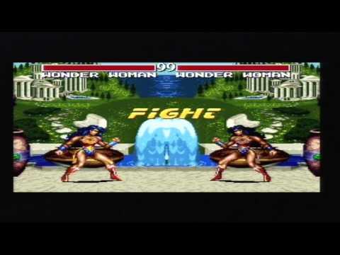 Justice League Task Force 1995 Wonder Woman Vs DC Villains