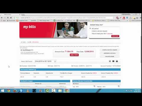 How To Change Language English to Hindi on Airtel Postpaid Bill