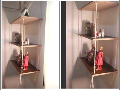 How To Make Simple Dollar Tree Shelf | Paano Gumawa Ng Hanging Dollar Shelf