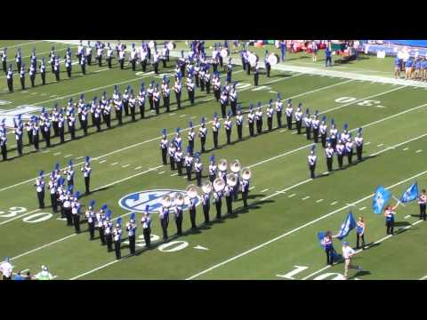 2014 University of Kentucky Wildcat Marching Band Pregame UK WMB