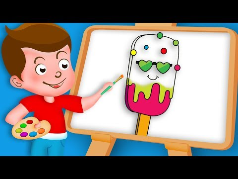 Drawing Ice Cream 2 Drawing Paint And Colouring For Kids | Kids Drawing TV