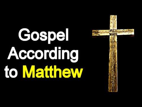 Gospel According to Matthew - Audio Bible Reading (New Testament)