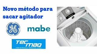 Novo metodo sacar agitador da lavadora GE / MABE.