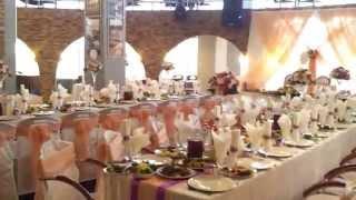 Сервировка свадебного стола.