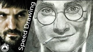 Harry Potter smoking a joint! Speed Drawing portrait