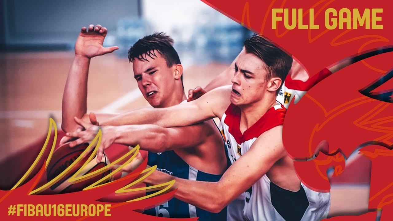 Germany v Estonia - Full Game - Classification 9-16 - FIBA U16 European Championship 2017