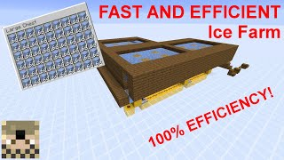 FAST & EFFICIENT Ice Farm | Minecraft 1.14.4+ | World Download