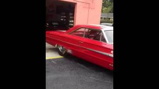 1963 Red Ford Galaxie Race Car