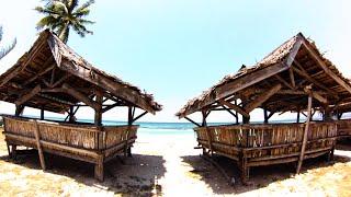 Bambusowe Konstrukcje Na Rajskiej Plaży. Piękne Widoki. Azja. Filipiny.