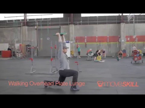 Demo: Walking Overhead Plate Lunge