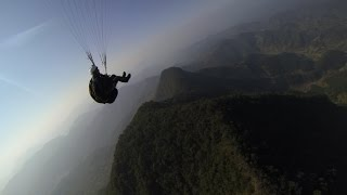 Paragliding in Pokhara, Sirkot and Bandipur. Nepal.