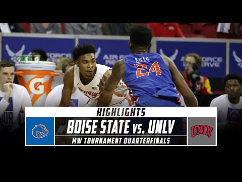 Boise State Vs. UNLV Highlights - MW Men's Basketball Tournament Quarterfinals (2020) | Stadium