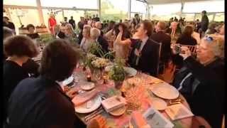 Inauguration du château Clerc Milon en 2011 par Philippine de Rothschild
