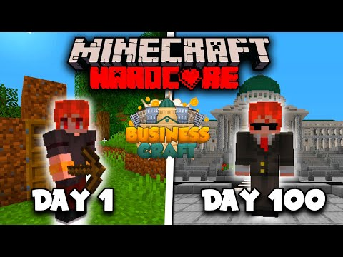 I Spent 100 days as a Minecraft Businessman and this is What Happened