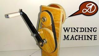 Manual drive for winding cord DIY. Homemade belt reducer + Lifehack