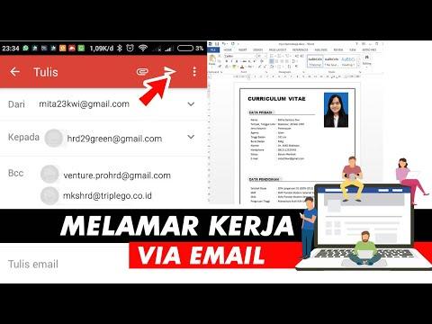 LamaranKerjaTerbaru #LamaranKerja #Tutorial Cara membuat lamaran kerja via email di HP   lamaran ker.